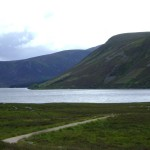 Озеро Loch Muick со стороны Spittal of Glen Muick